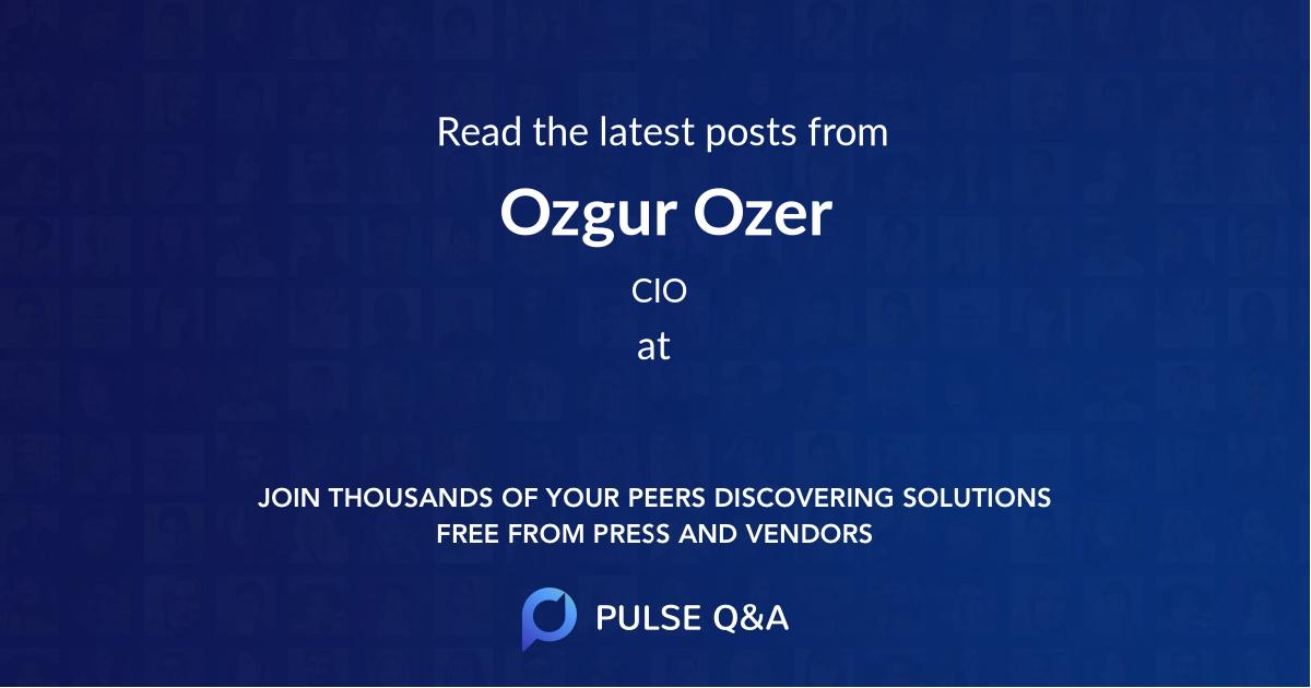 Ozgur Ozer
