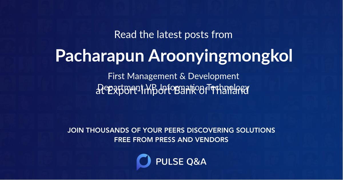 Pacharapun Aroonyingmongkol