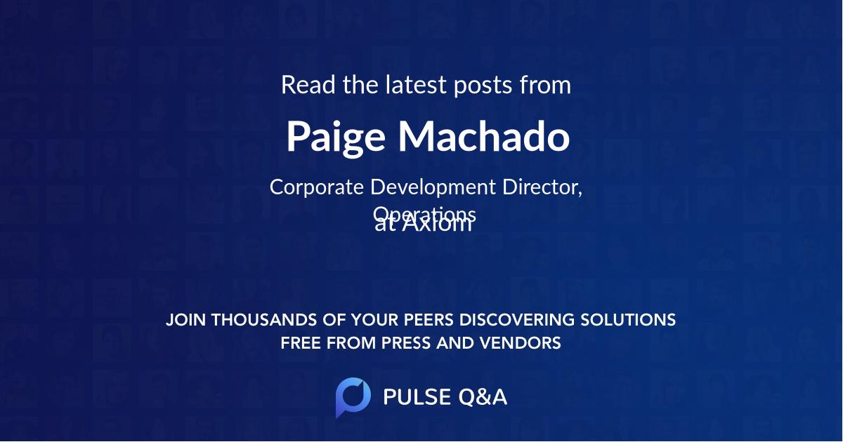 Paige Machado
