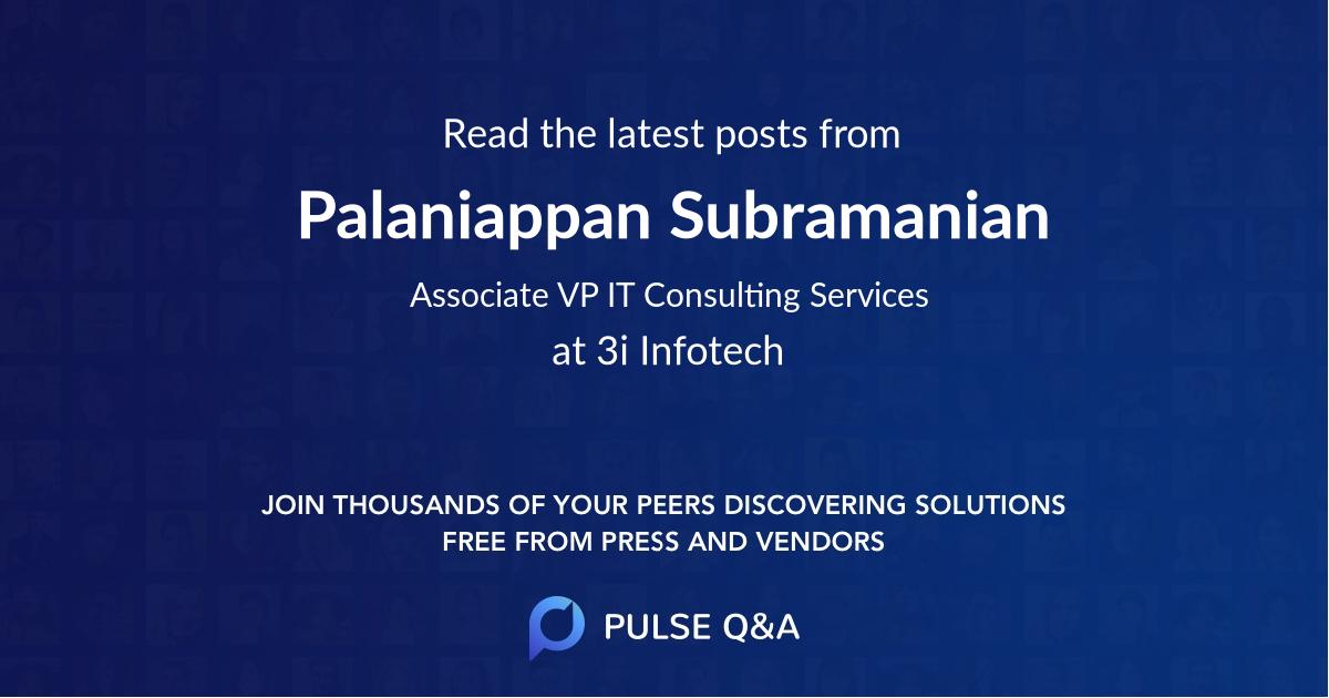 Palaniappan Subramanian