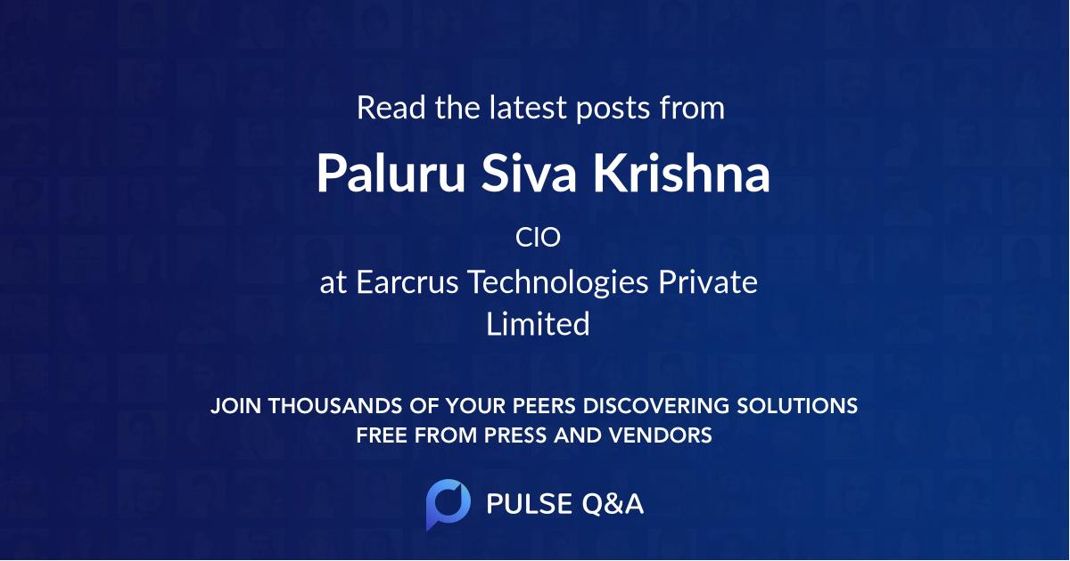 Paluru Siva Krishna