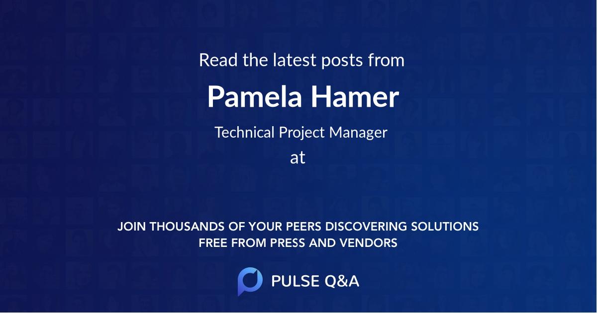 Pamela Hamer