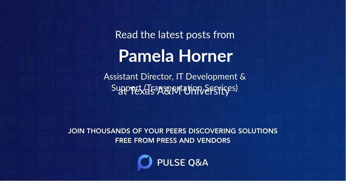 Pamela Horner