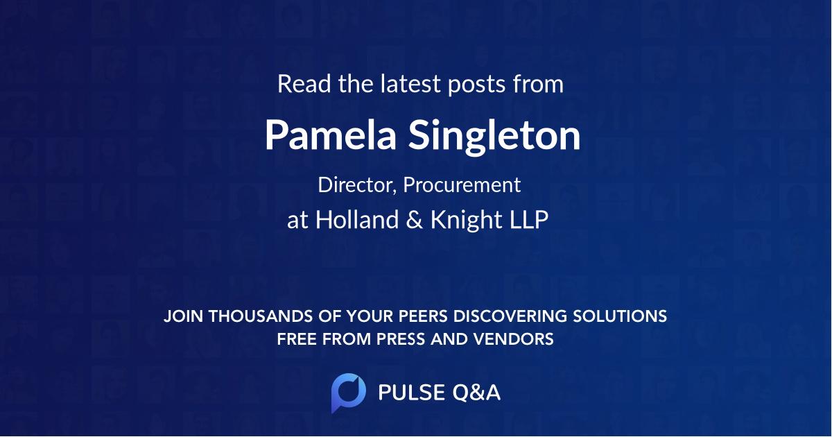 Pamela Singleton