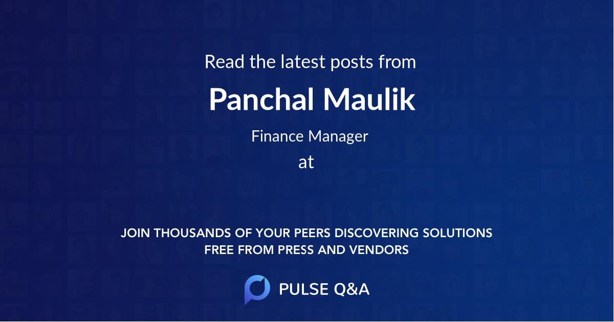Panchal Maulik