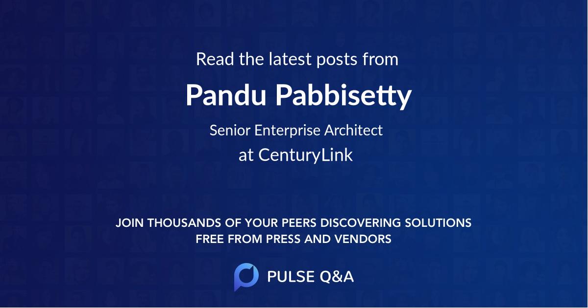 Pandu Pabbisetty