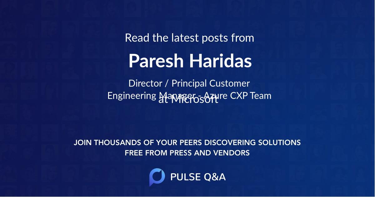 Paresh Haridas