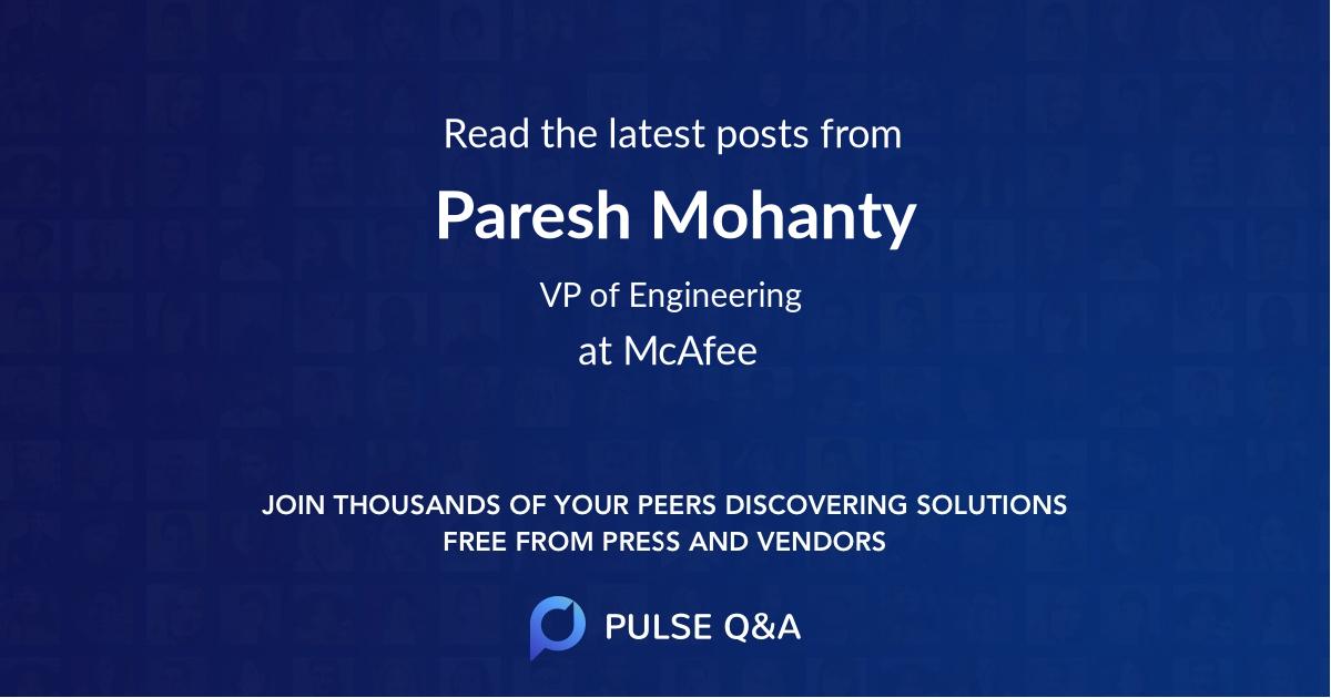 Paresh Mohanty