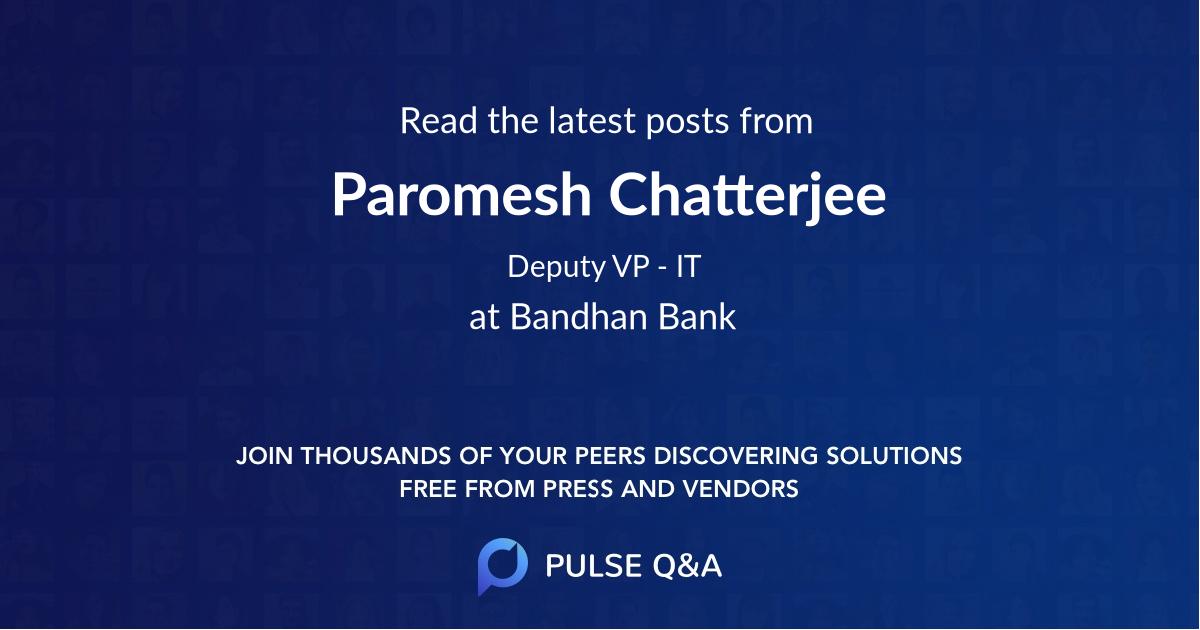 Paromesh Chatterjee