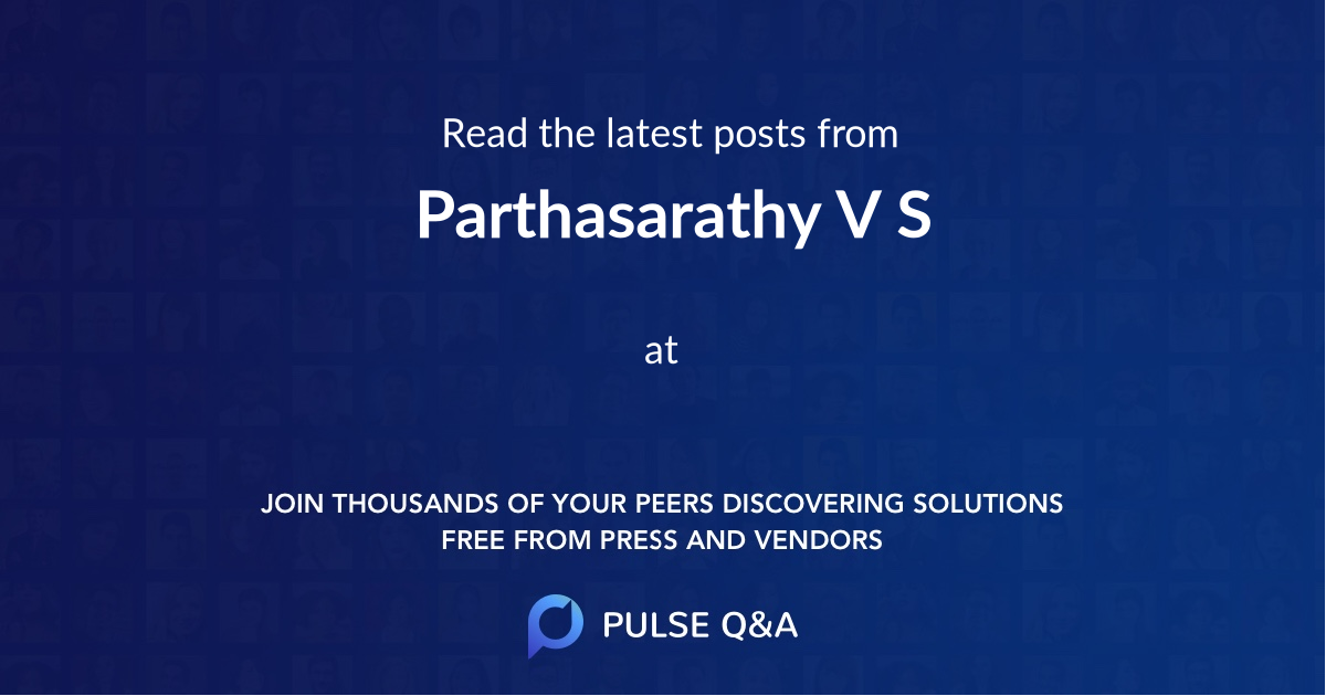 Parthasarathy V S