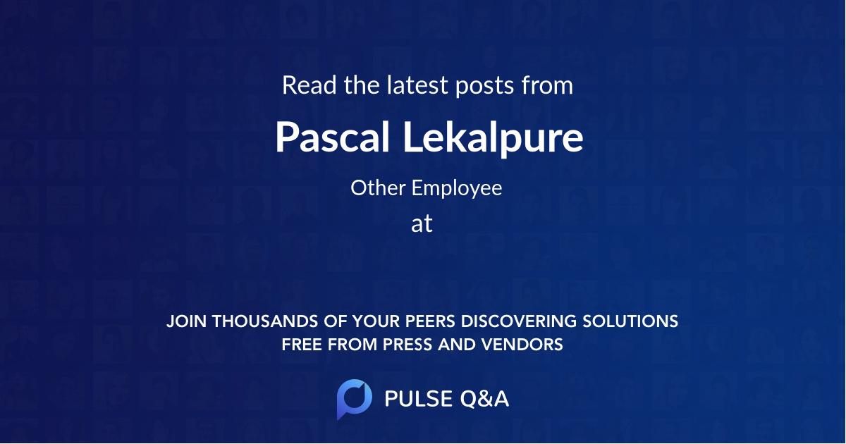 Pascal Lekalpure