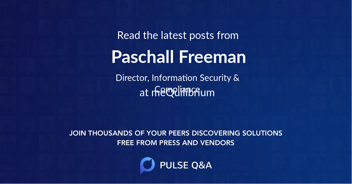 Paschall Freeman