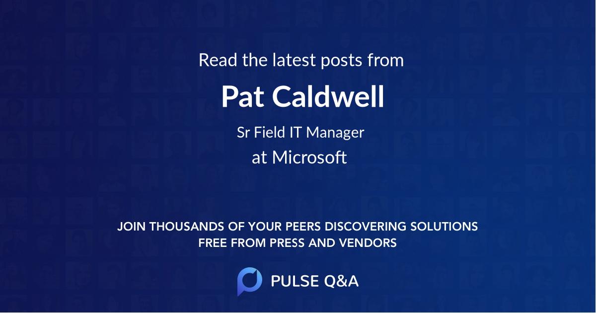 Pat Caldwell