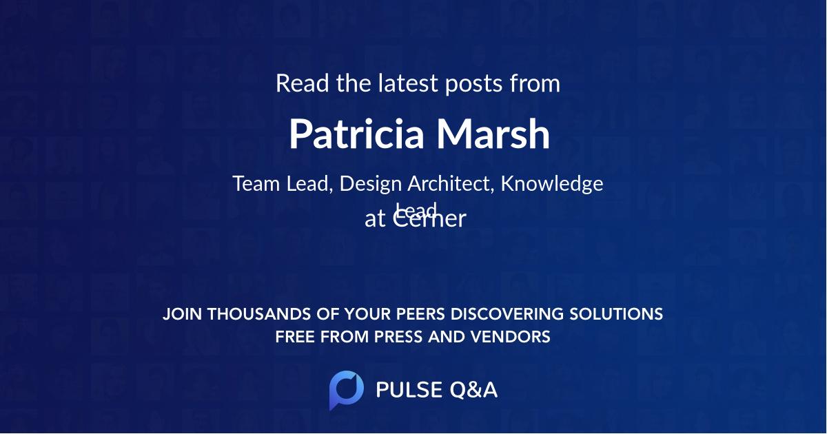 Patricia Marsh