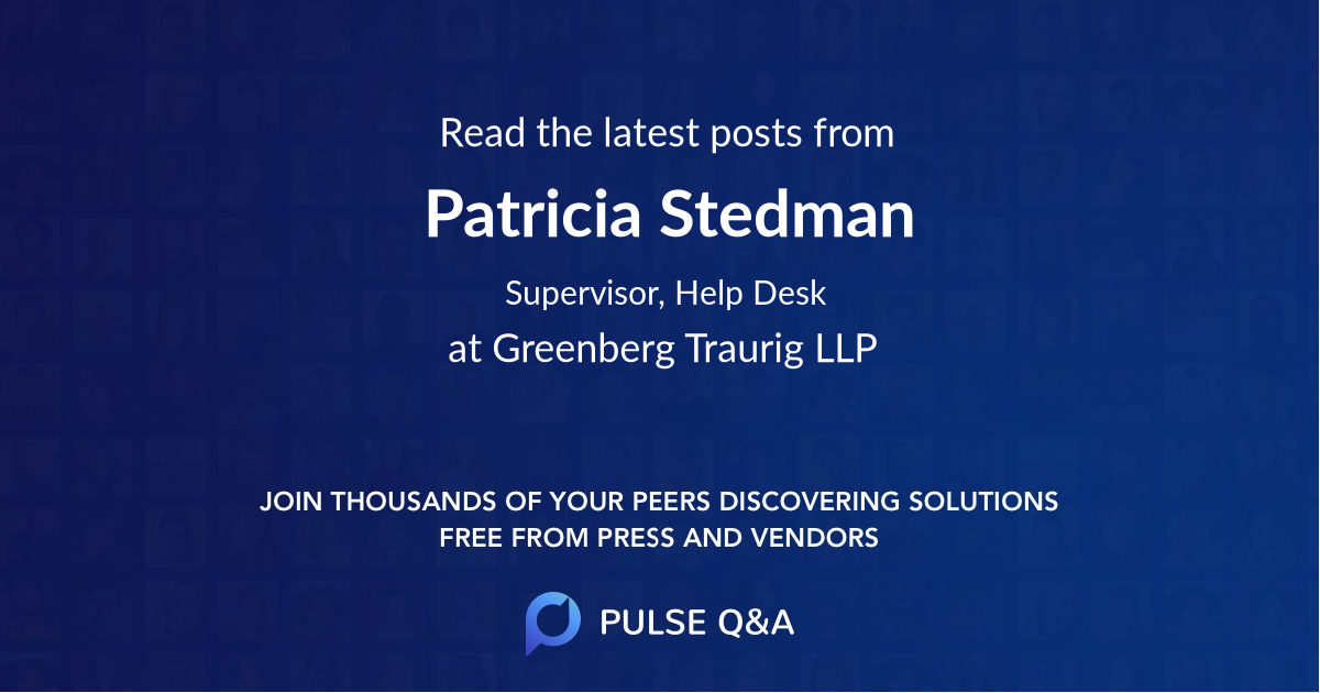 Patricia Stedman