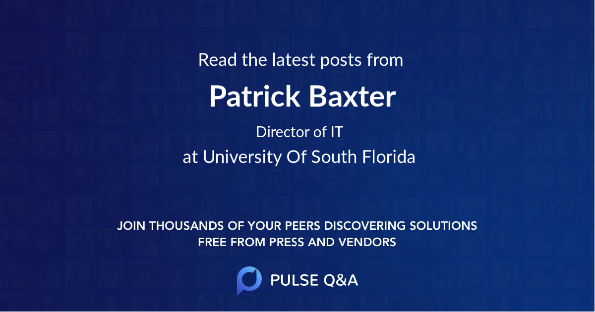 Patrick Baxter