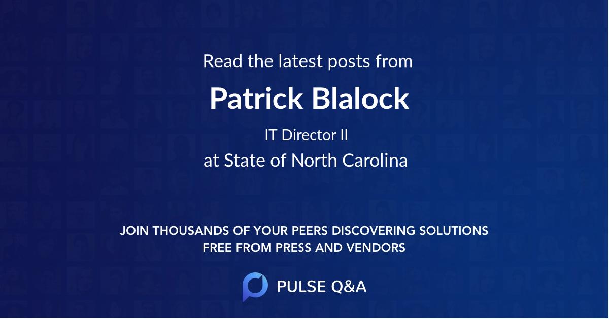 Patrick Blalock