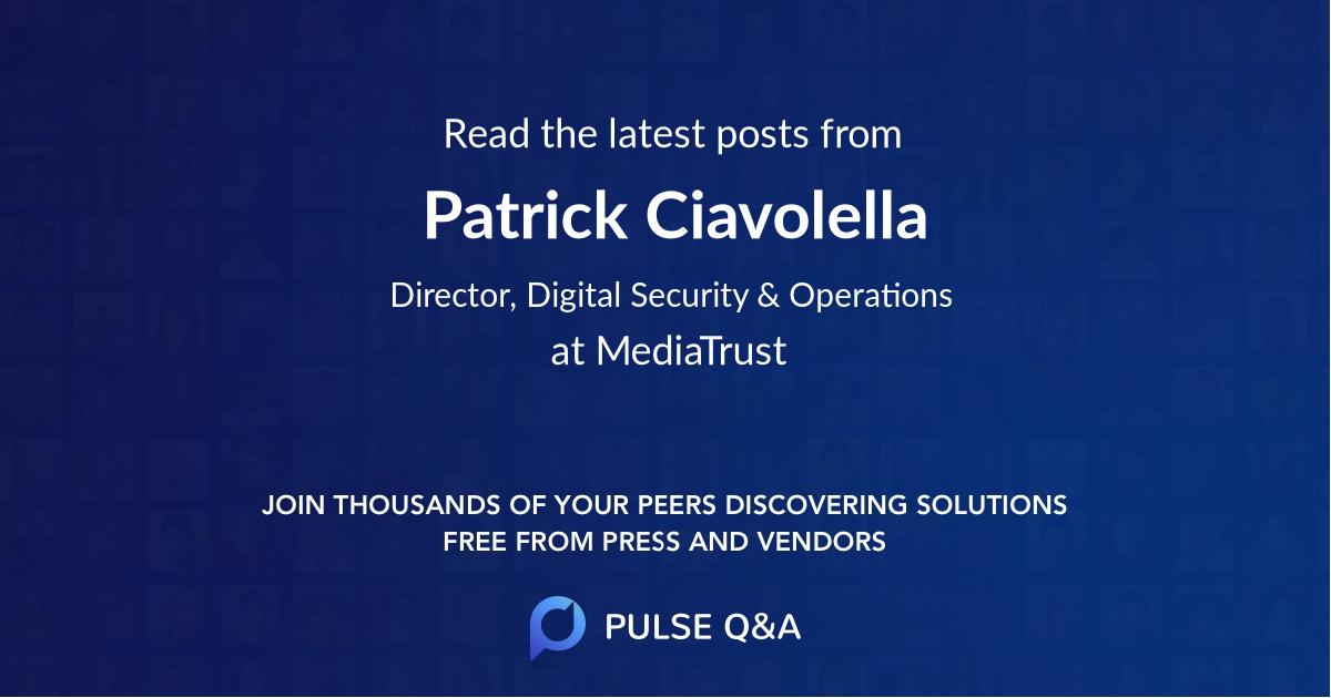 Patrick Ciavolella