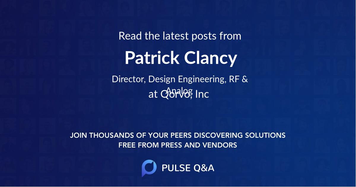 Patrick Clancy