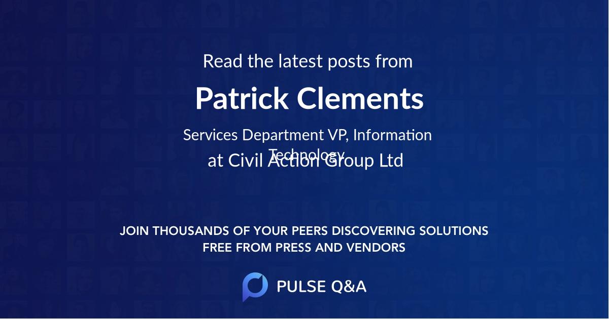 Patrick Clements