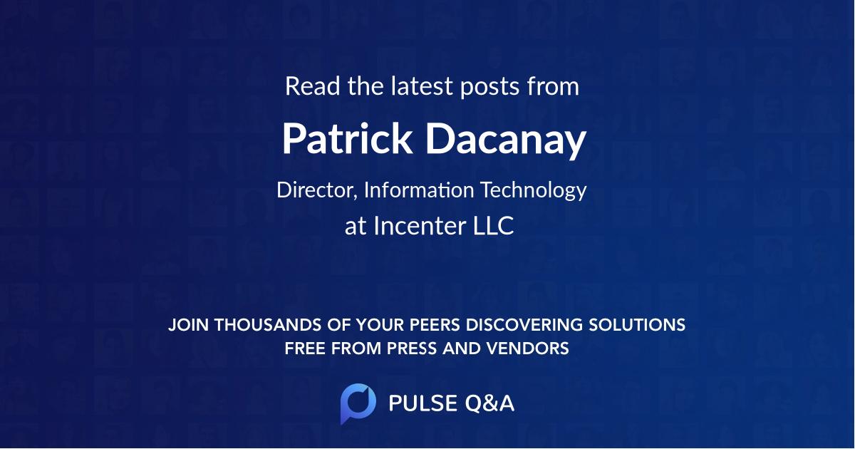 Patrick Dacanay