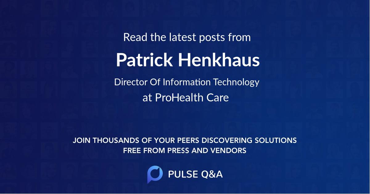 Patrick Henkhaus