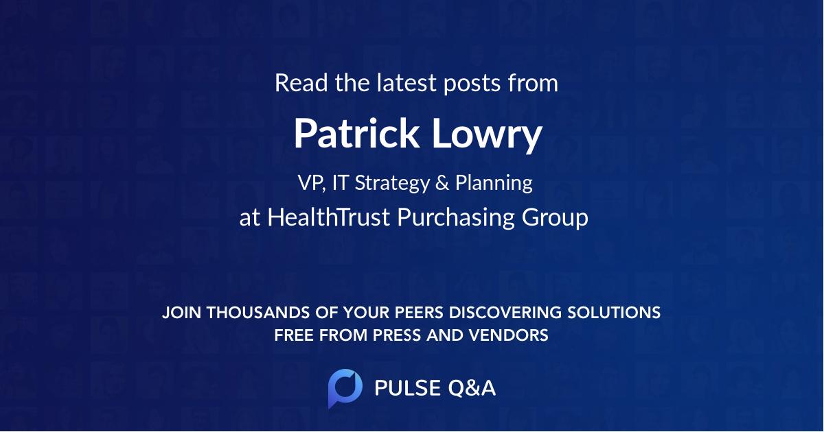 Patrick Lowry