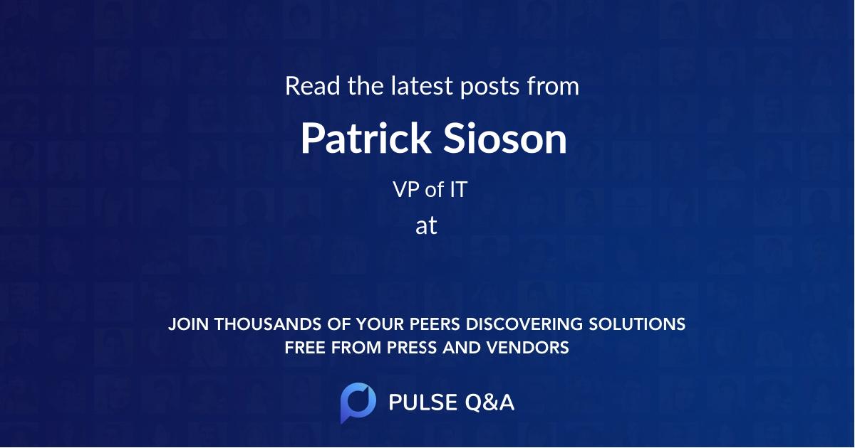 Patrick Sioson