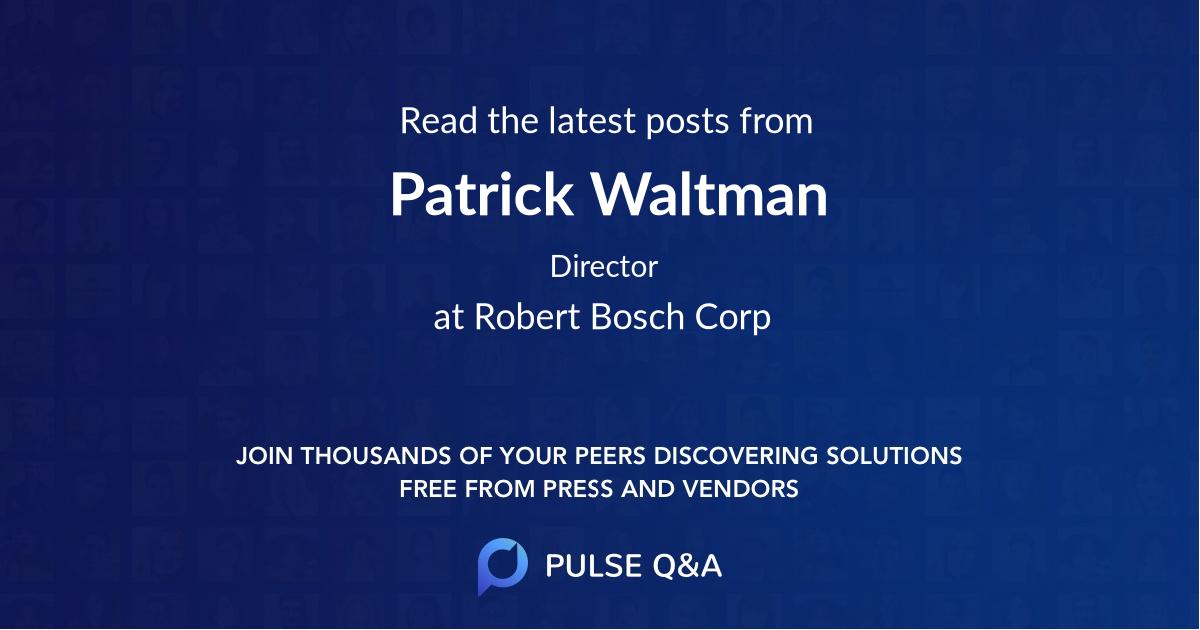 Patrick Waltman
