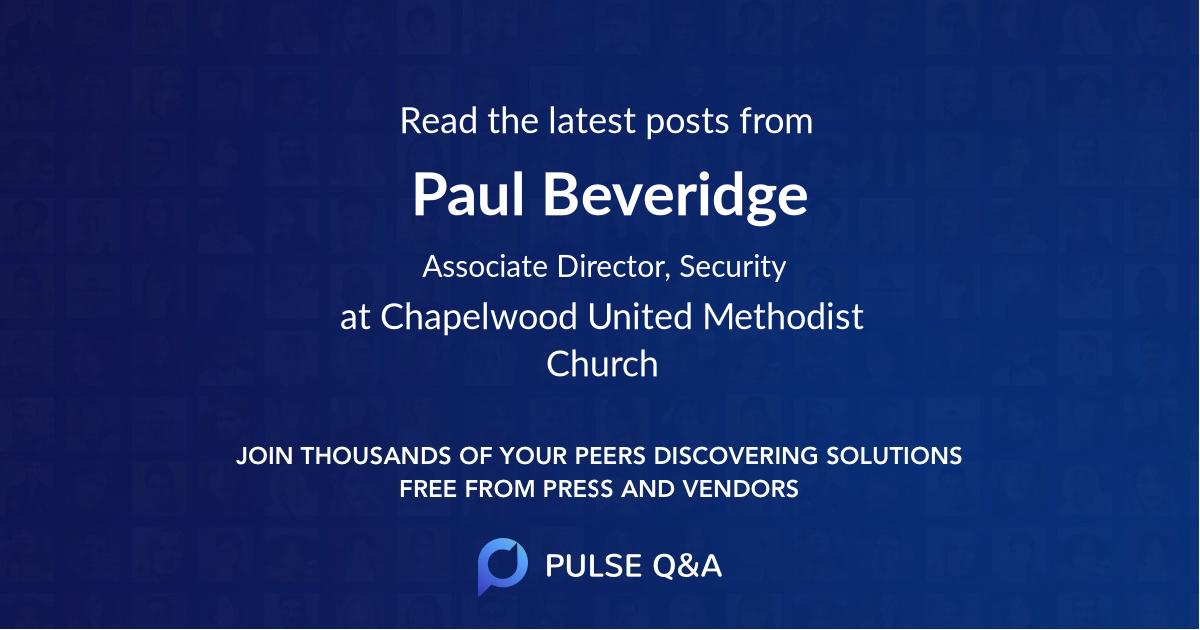 Paul Beveridge