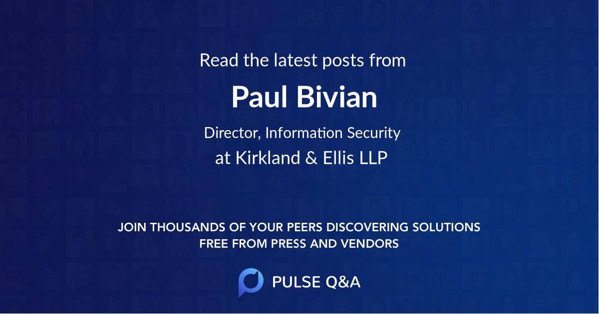 Paul Bivian