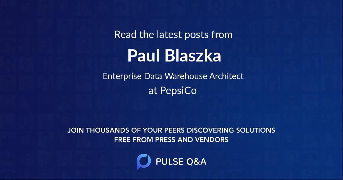 Paul Blaszka