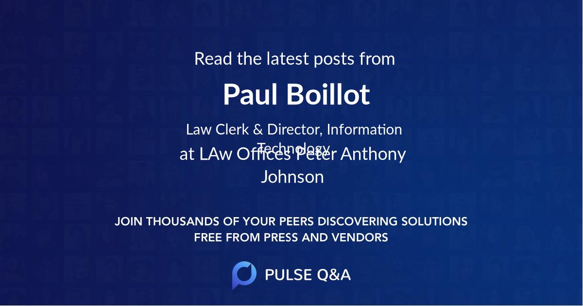 Paul Boillot