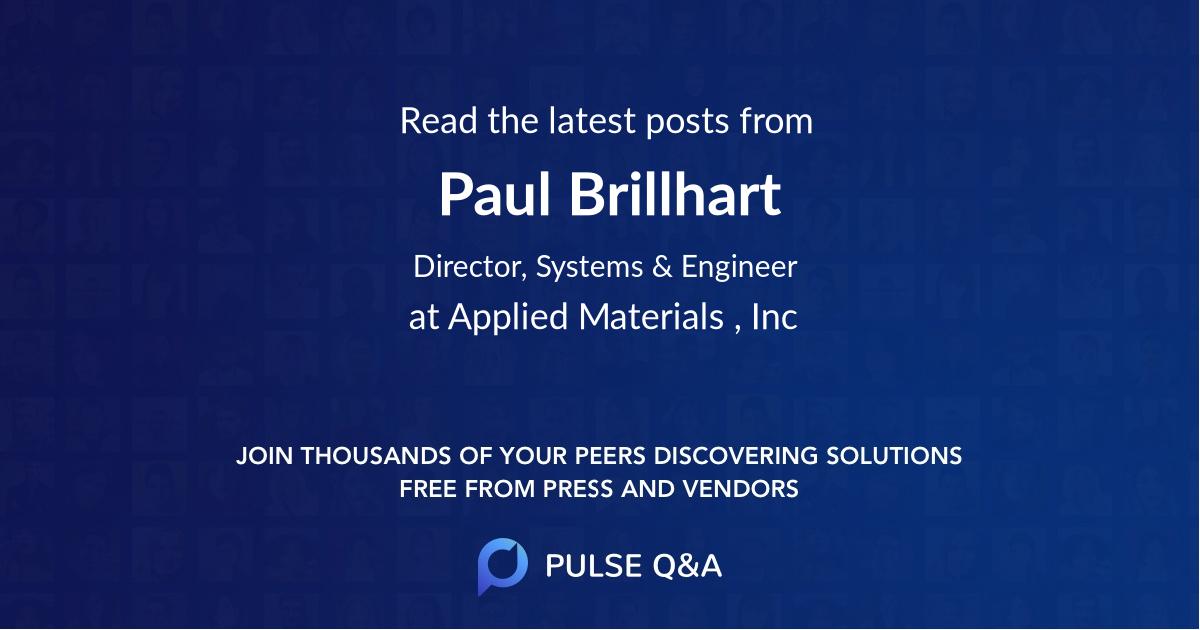 Paul Brillhart