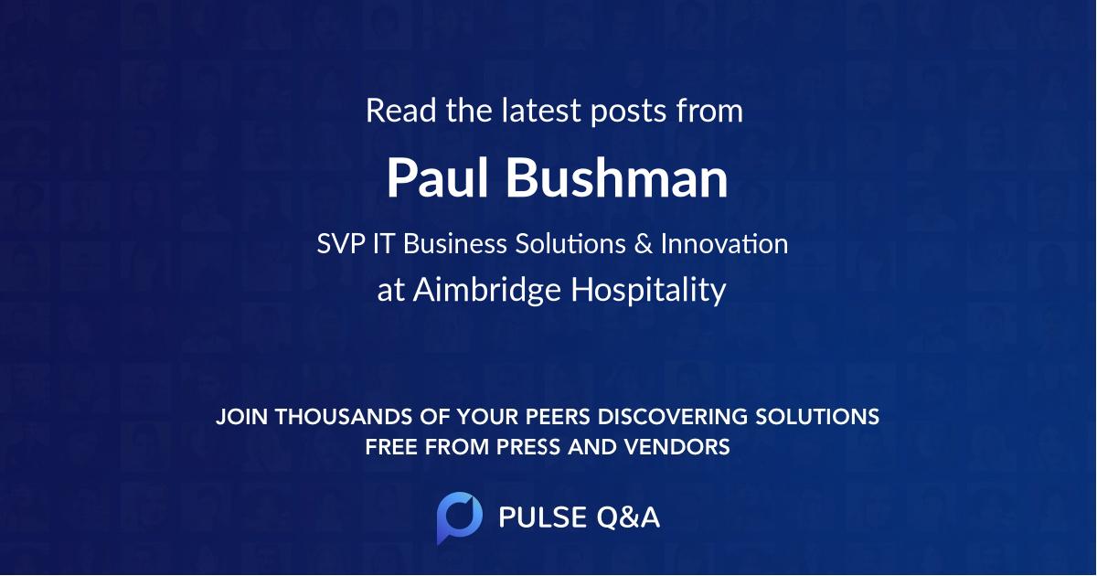 Paul Bushman