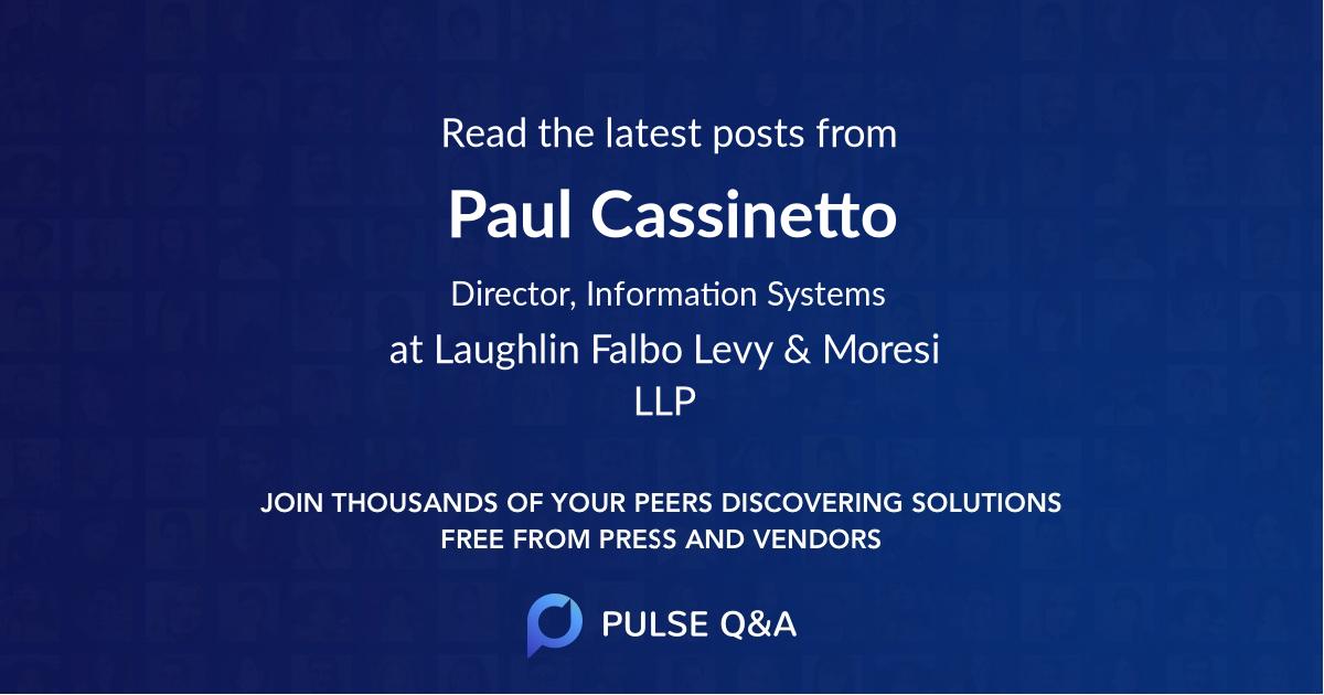 Paul Cassinetto