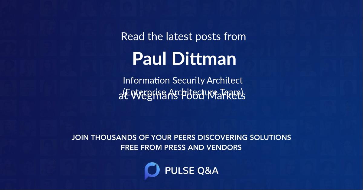 Paul Dittman