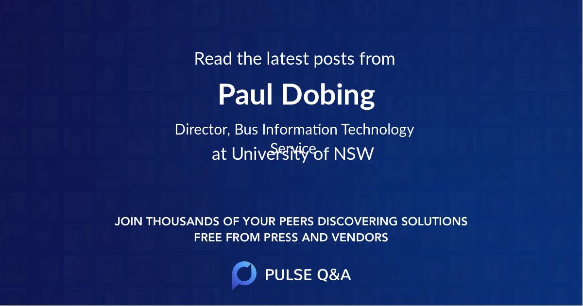 Paul Dobing