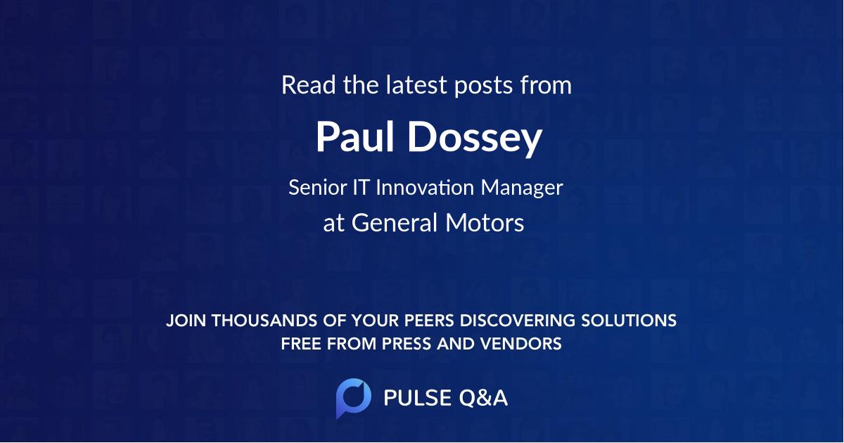 Paul Dossey