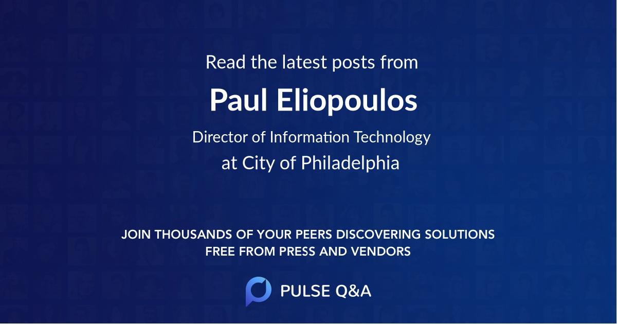 Paul Eliopoulos