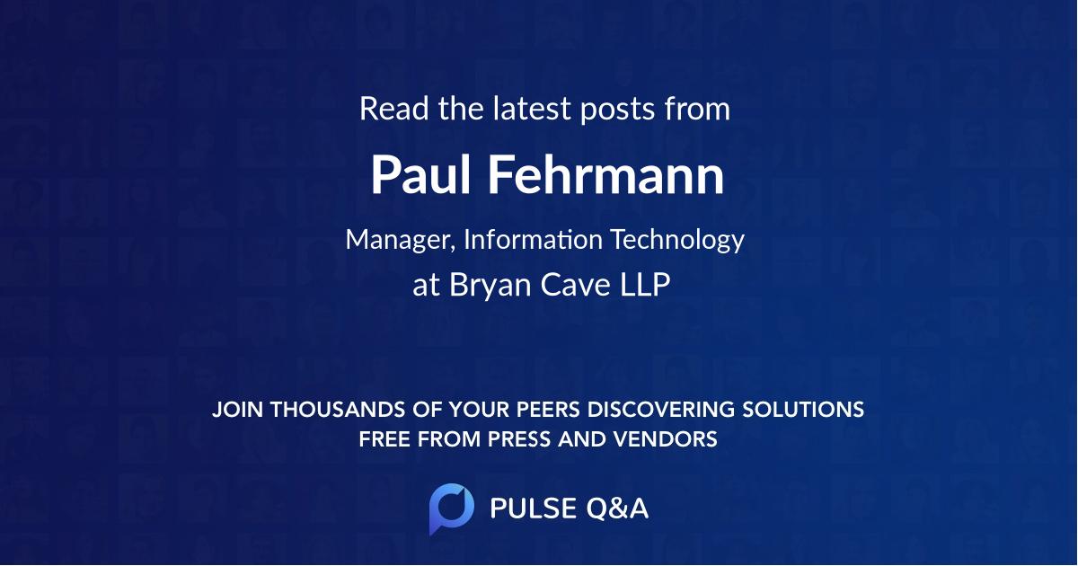 Paul Fehrmann