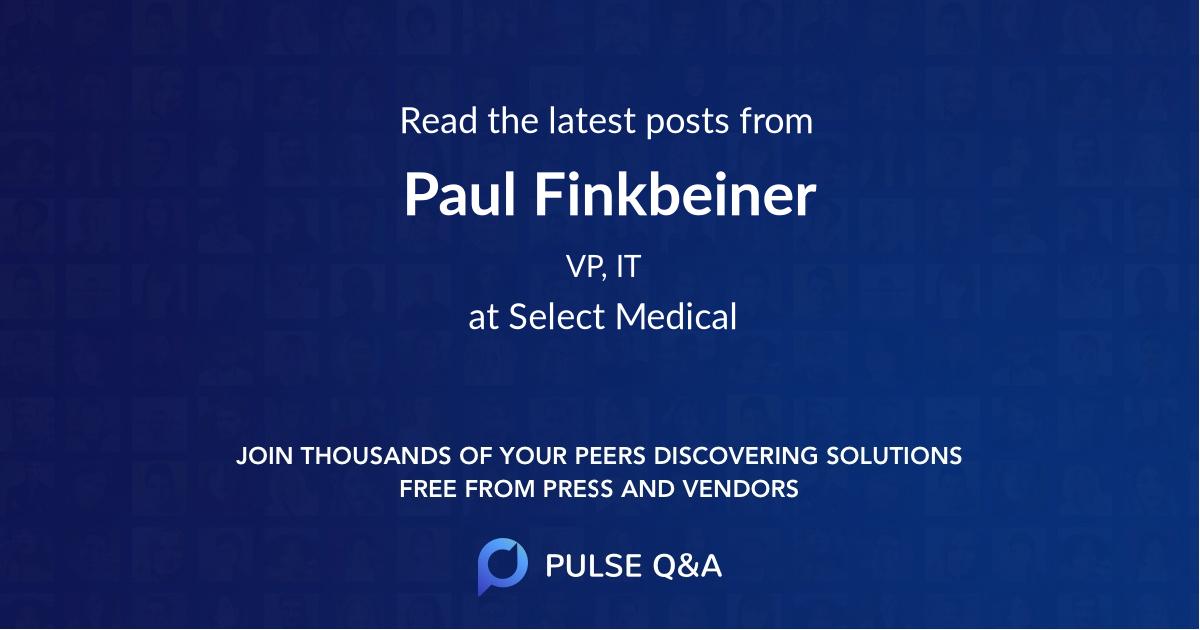 Paul Finkbeiner