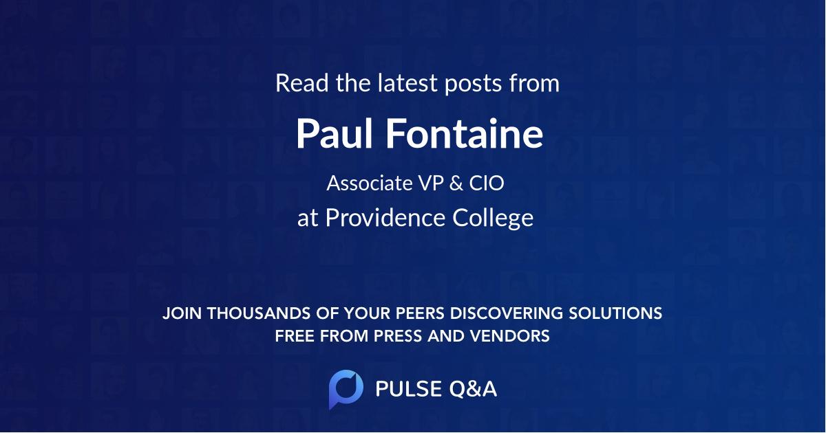 Paul Fontaine