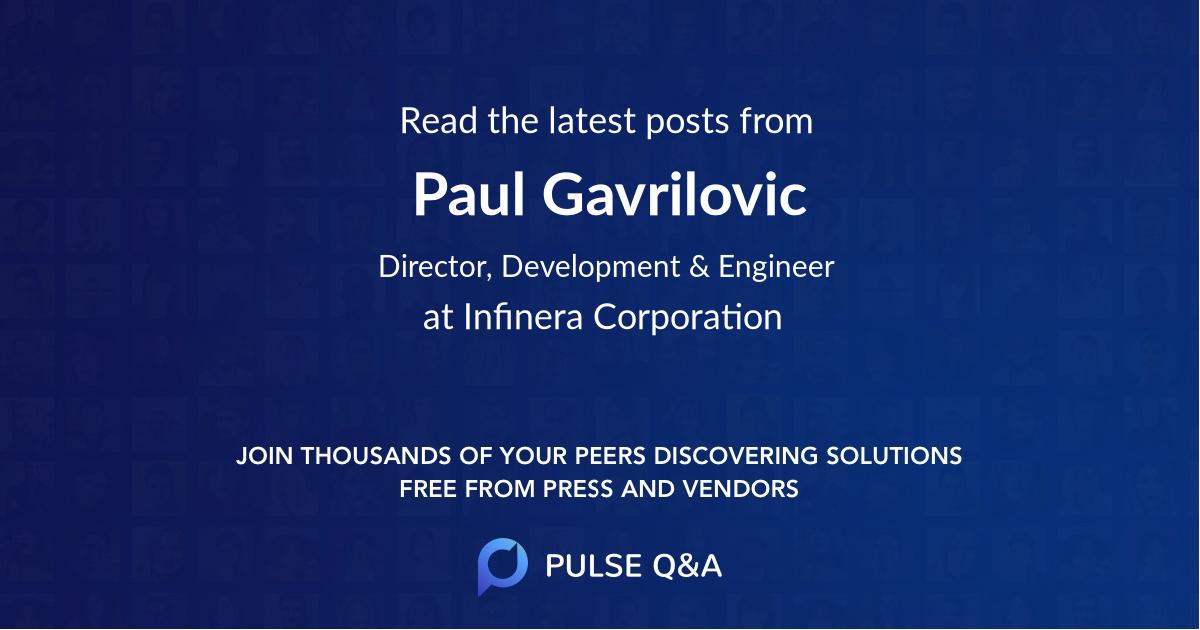 Paul Gavrilovic