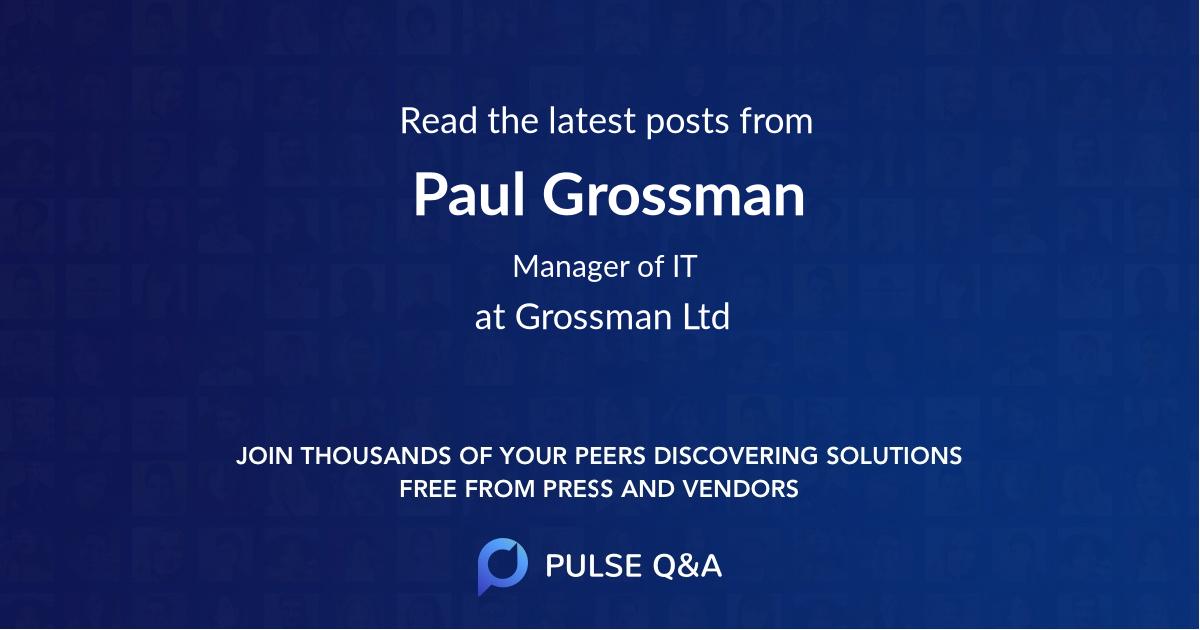 Paul Grossman