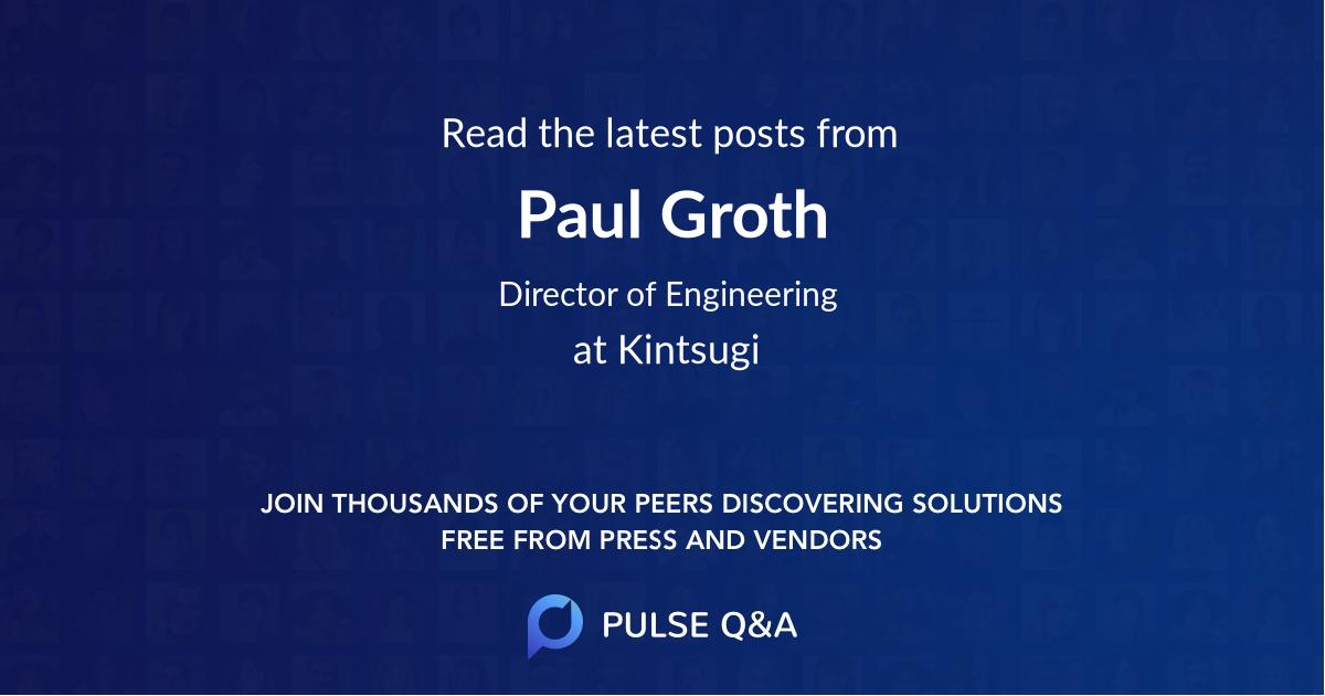 Paul Groth