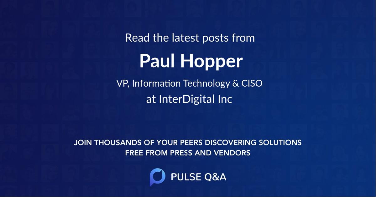 Paul Hopper