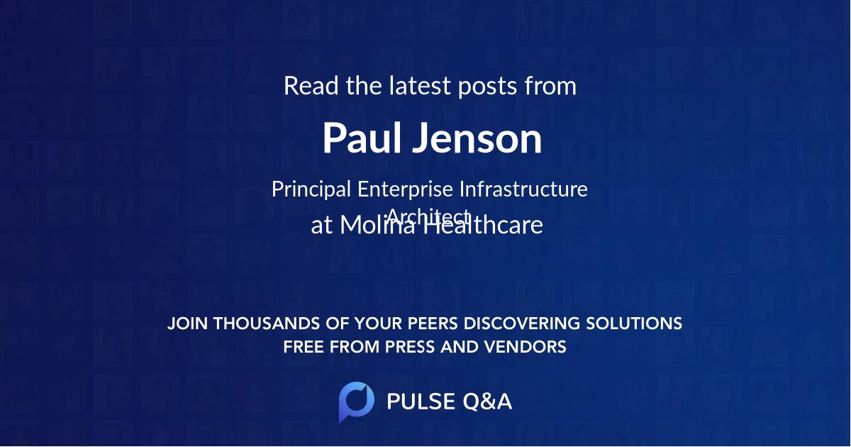 Paul Jenson