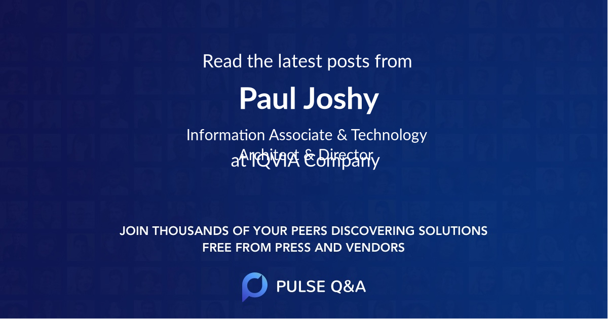 Paul Joshy