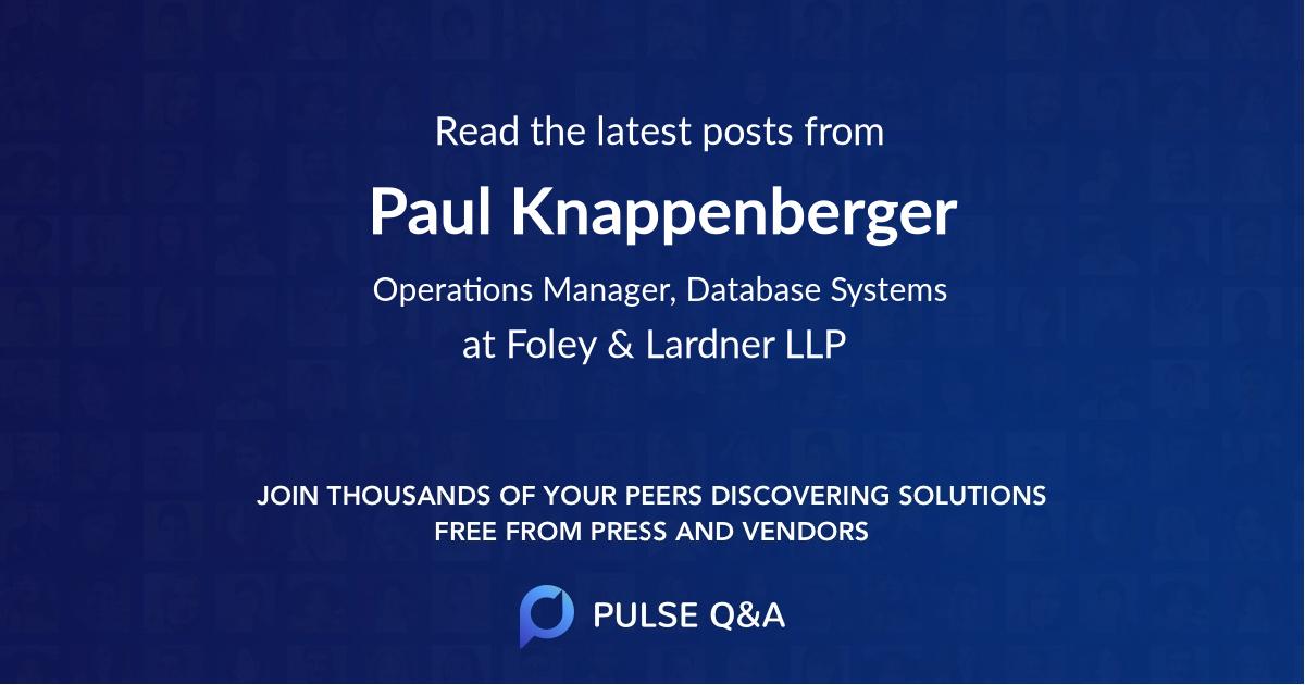 Paul Knappenberger